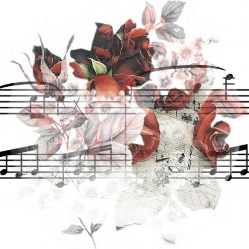 Картинки по запросу музыка ноты цветы клипарт